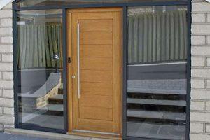 Aluminium Windows and Traditional Front Door in Yorkshire