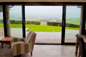 bi-folding patio doors with view