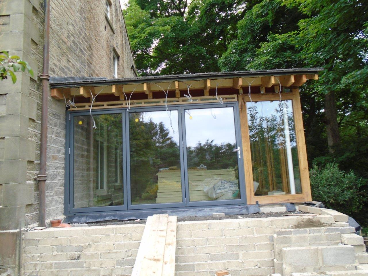 Residential Aluminium Bi-Folding door construction