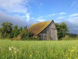 Rustic Barn in countryside