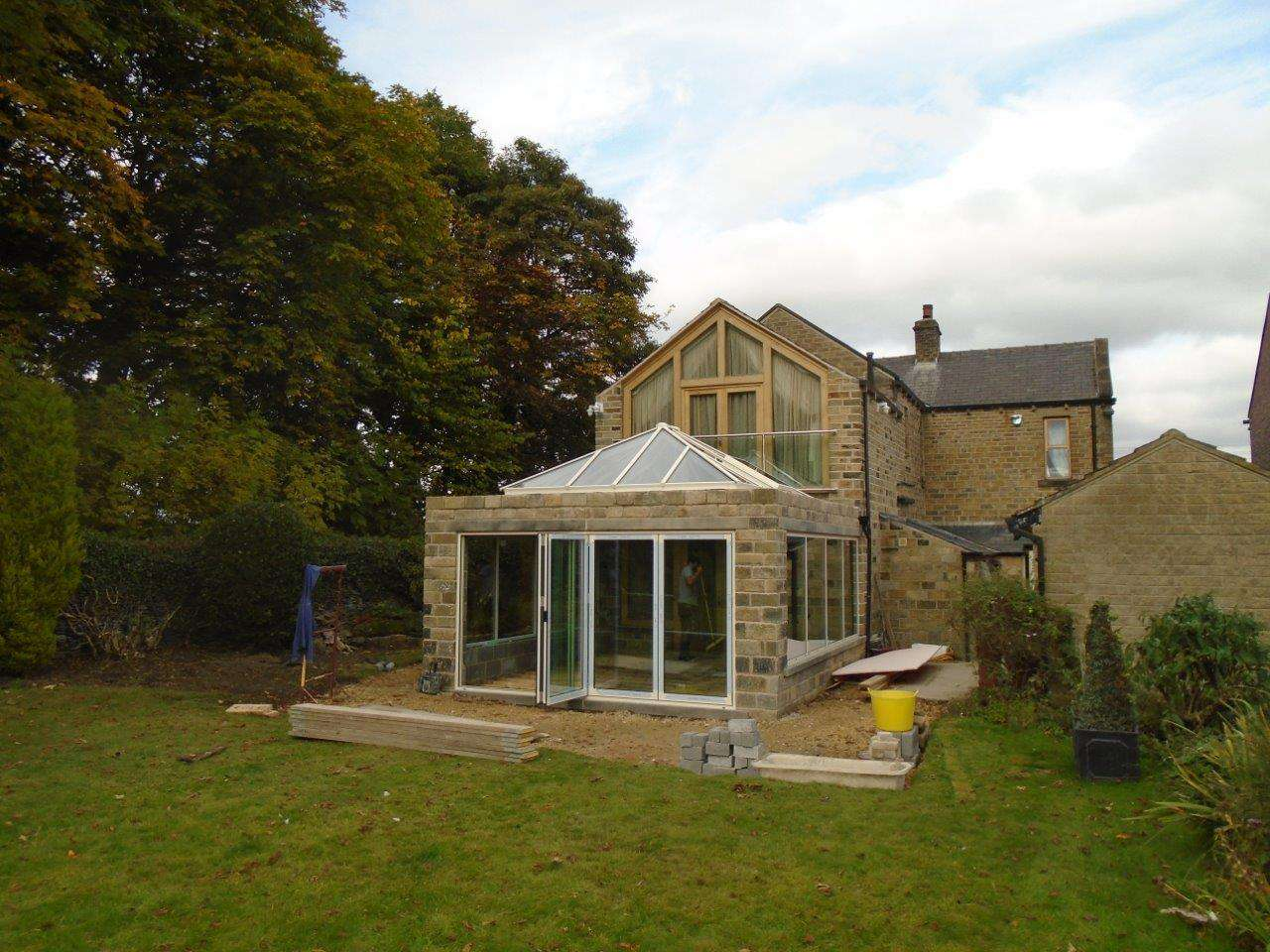 Rear Patio Development Bi-Folding Doors and Roof Lantern