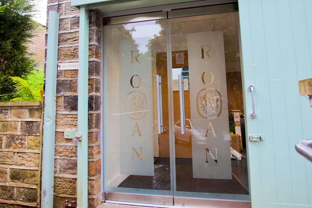 Branded Glass Entrance Doors Wakefield & Commercial | Aluminium | Windows | Doors | Bi-folding | Folding ...