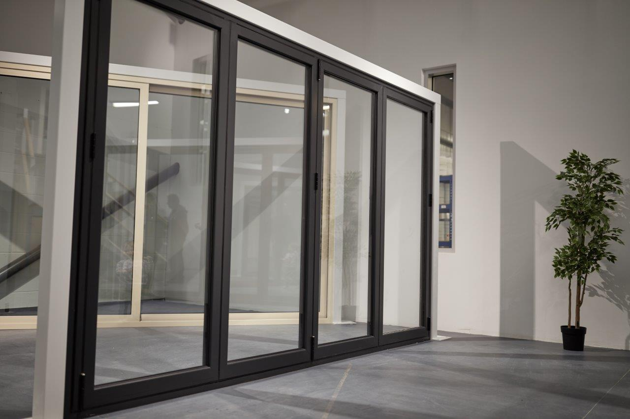 Clear View Showroom 4 pane bi-folding door