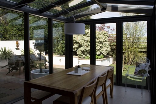 Conservatory with Bi-folding Doors in Yorkshire