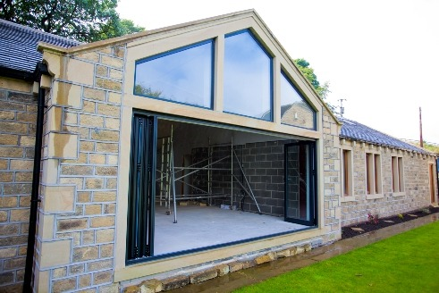 Bi-folding Door with upper skylight