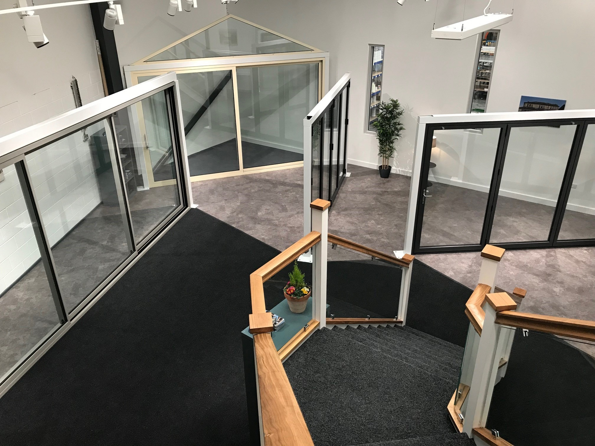 Clear View showroom in Huddersfield down steps