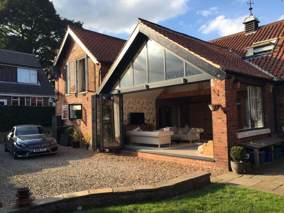 Bi-folding doors and Roof completed in Yorkshire