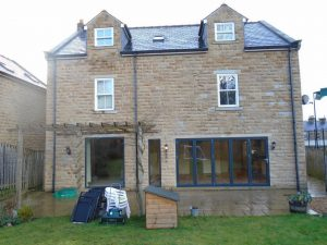 Bi-folding doors and windows fitted at a home in Huddersfield