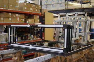 Aluminium Frames in Huddersfield workshop