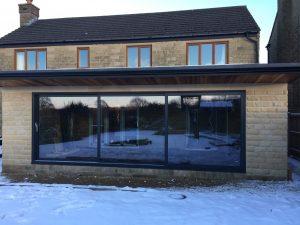 three pane bi-folding door in huddersfield