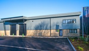 aluminium doors and windows for phase A of Meltham based commercial property landlord Towndoor's new project The Dyeworks