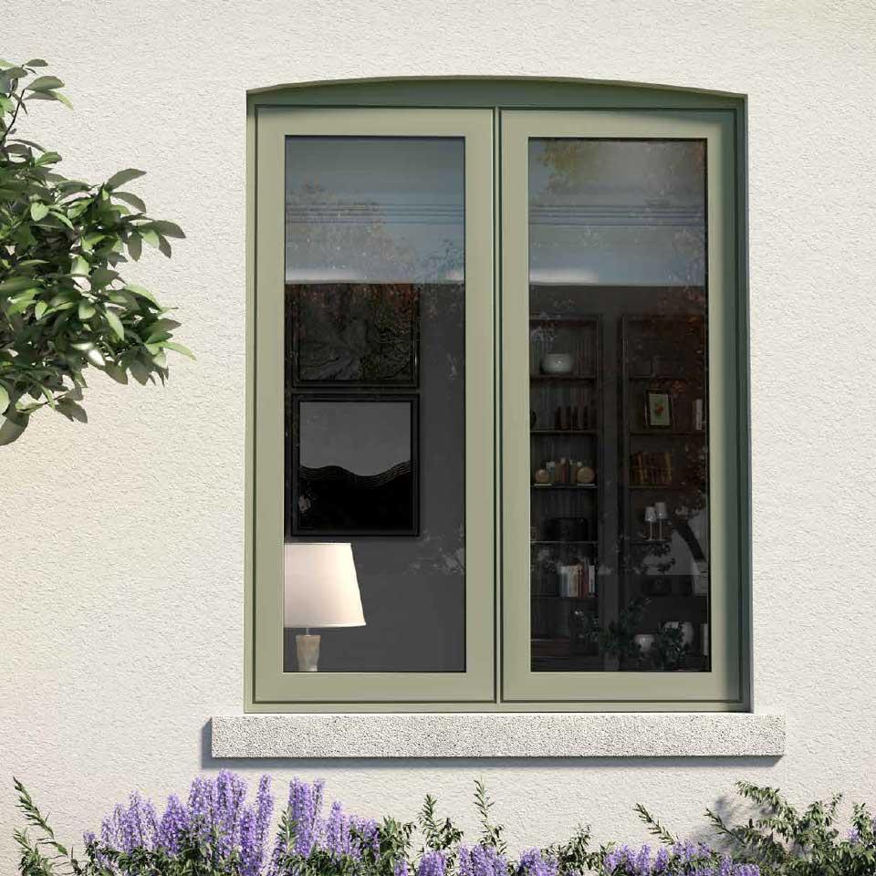 aluminium flush windows
