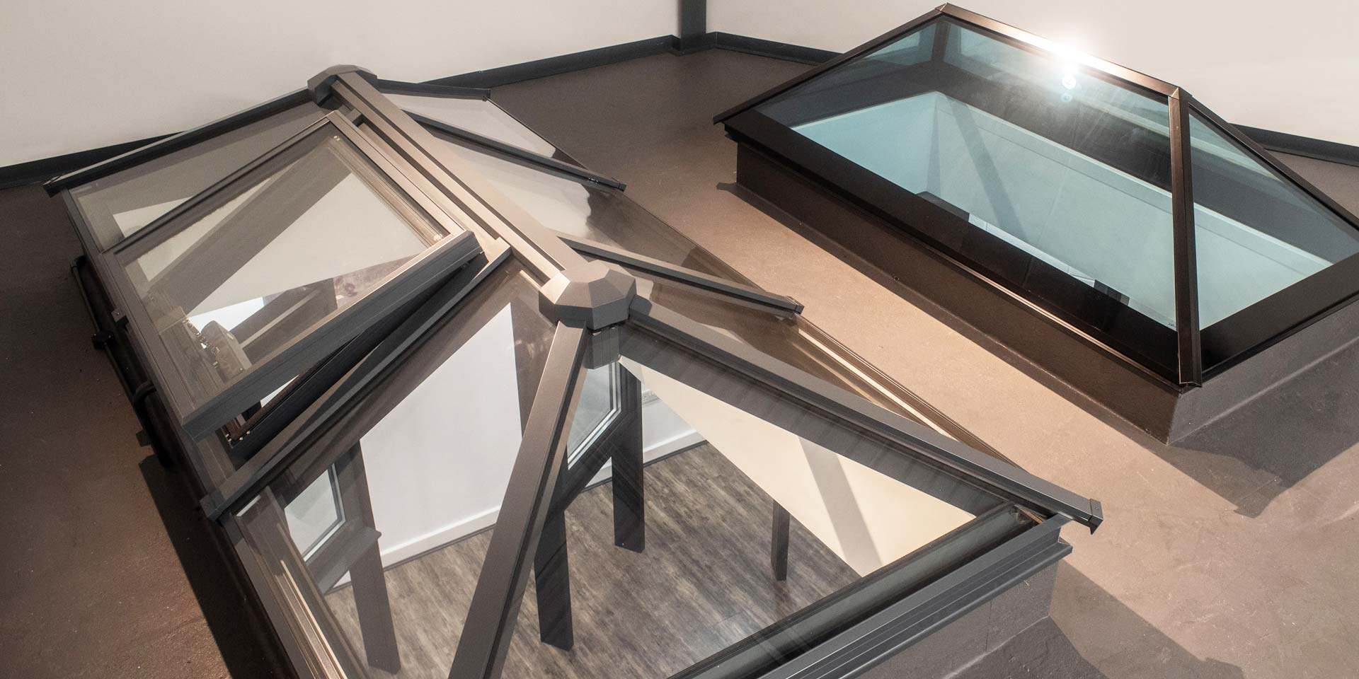 roof systems in showroom